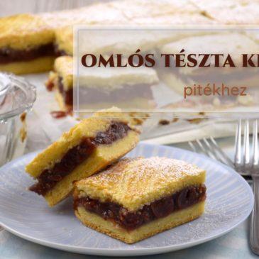 8. LECKE: Omlós tészta készítése pitékhez