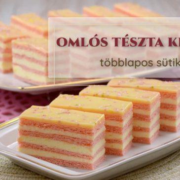 12. LECKE: omlós tészta többlapos sütikhez