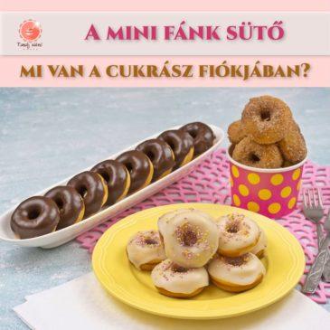 Mini fánk sütés