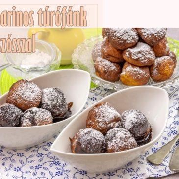 Mandarinos túrófánk csoki szósszal